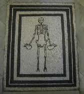 Mr. Skeleton Floor Mosaic