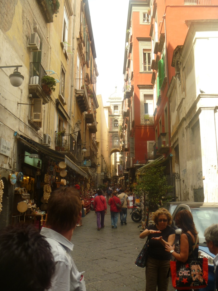 Naples Side Street- Searching for Good Pizza