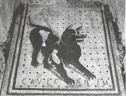 Front Door Floor Mosaic from the House of the Tragic Poet, Pompeii