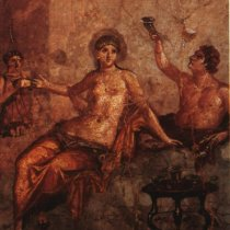 Pompeiians hoop it up...they loved their Falernian wine!