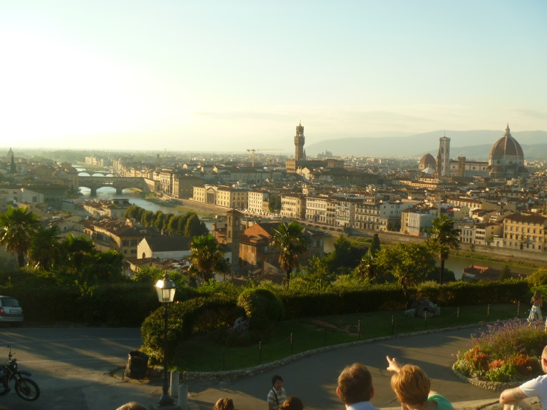 Arno River with Three Bridges