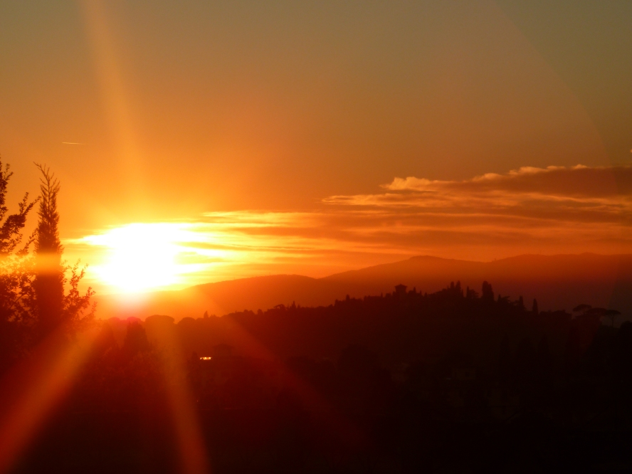 Fiery Firenze Sunset