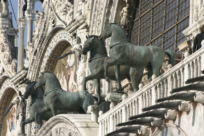 Horses (copies) on St. Marks Basilica today