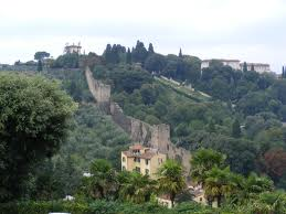 Old City Wall as seen from Piazzale Michelangelo