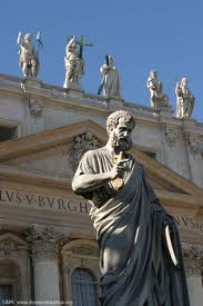 St. Peter, Eternal Guardian, Keeper of the Keys to the Kingdom, Apostle and Founder of the Christian church in Rome. Martyred under Nero in 64 AD.