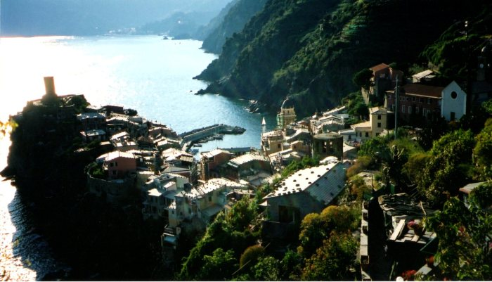 Village of Vernazza with the Tower