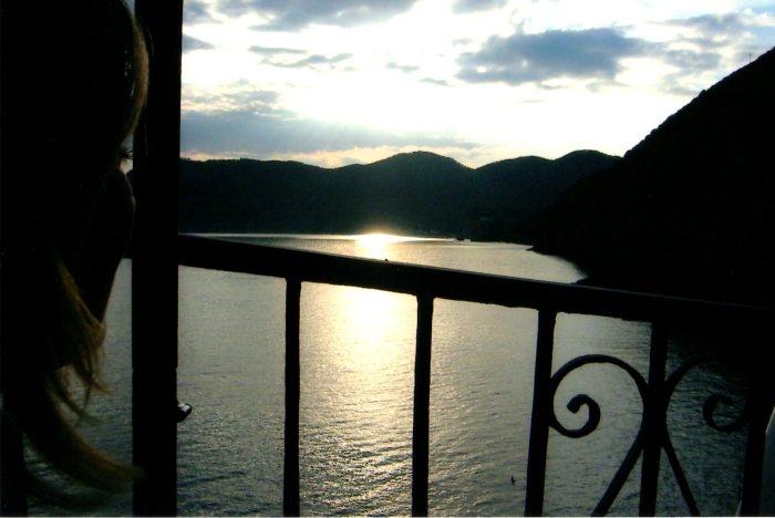 Twilight Begins over the Mediterranean