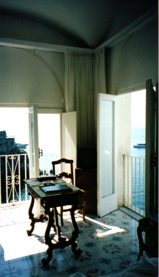 Our room in Amalfi, looking out at the Mediterranean. I could live here.....