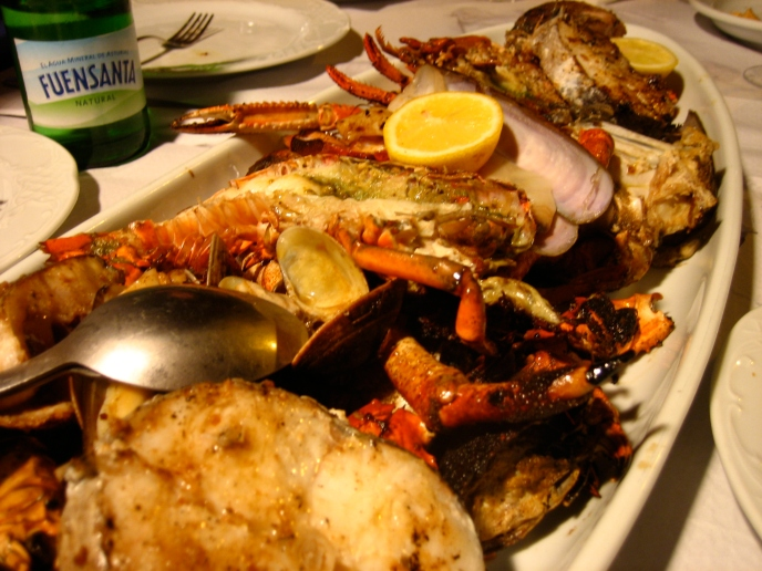 Freshly caught Mediterranean seafood