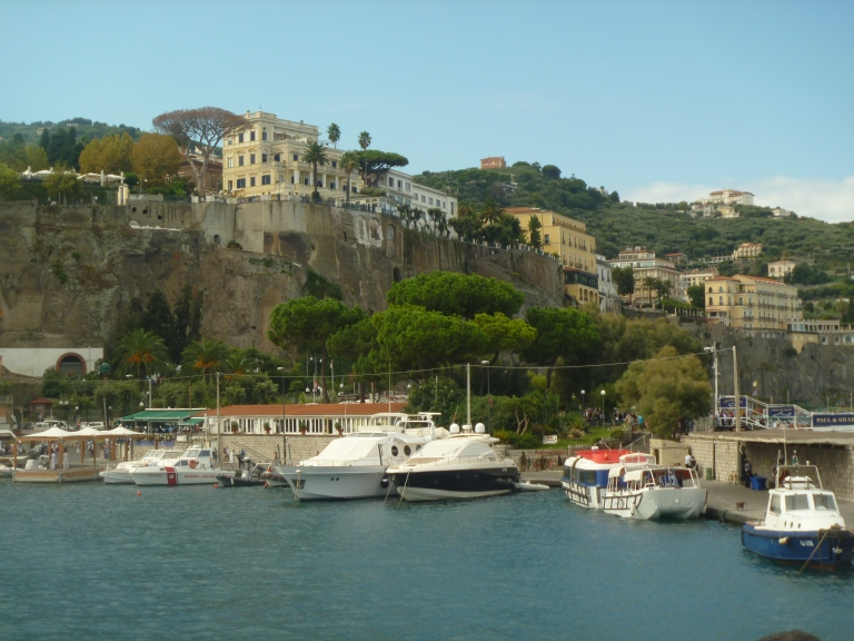 Dockside with lovely villas above