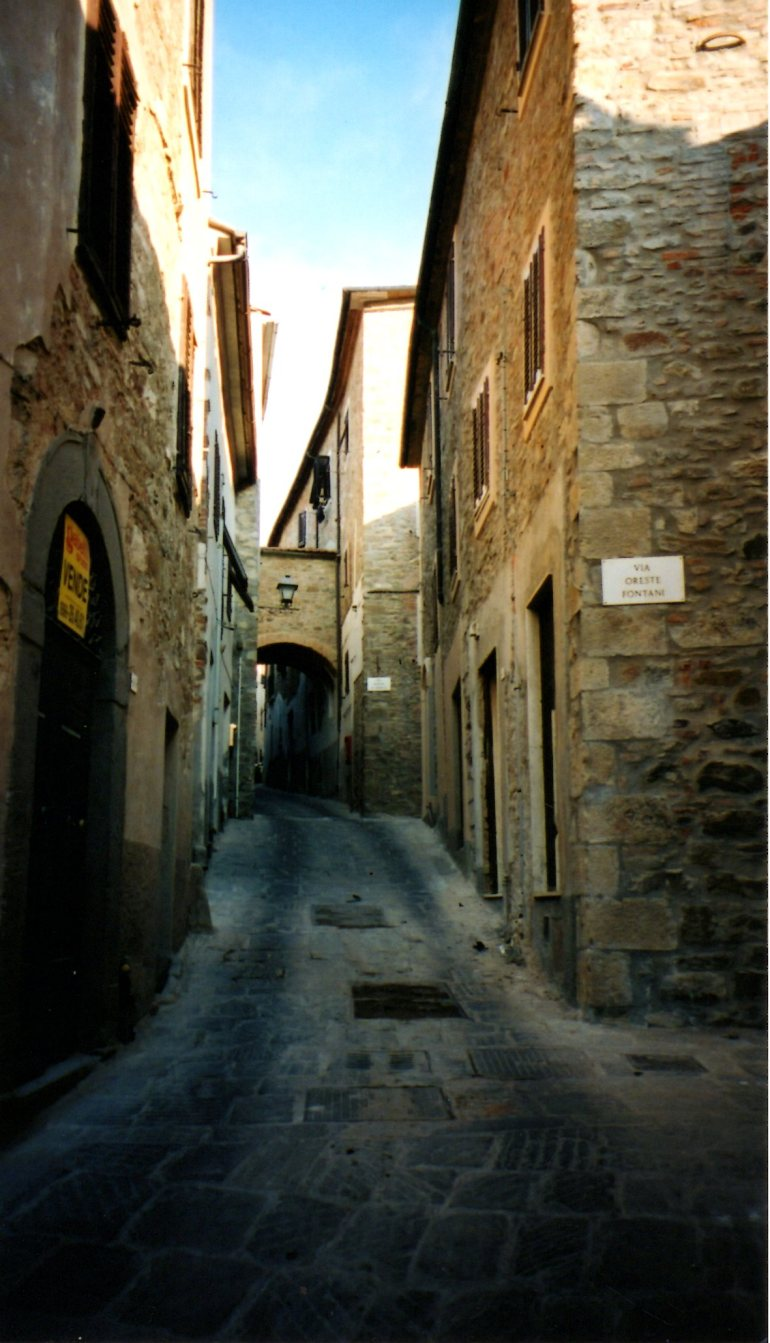 Typical Medieval Street in Scarlino-