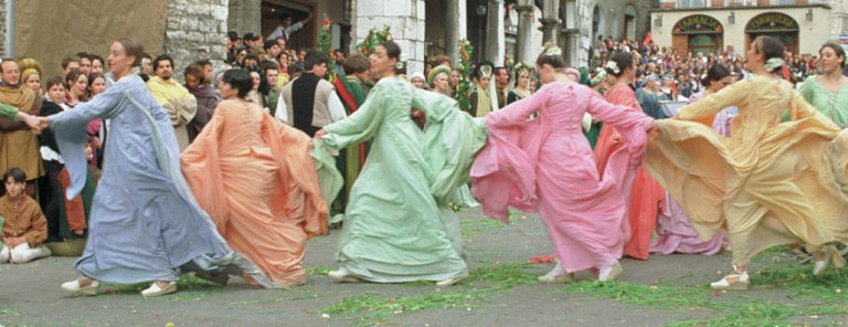 Fair Ladies dance in May Day revelry