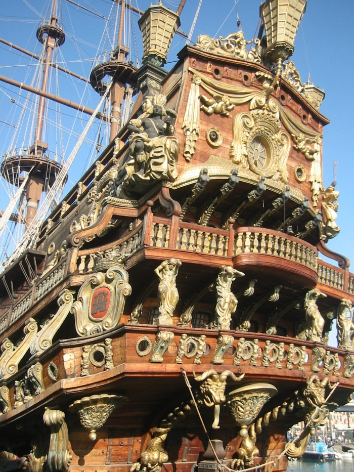 A Spanish Galleon at the Port