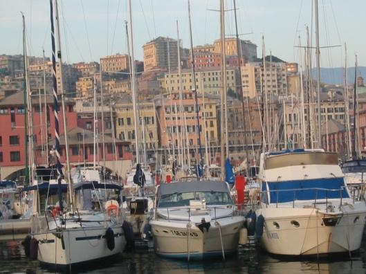 Boats Bobbing in the Harbor of Porto Antico