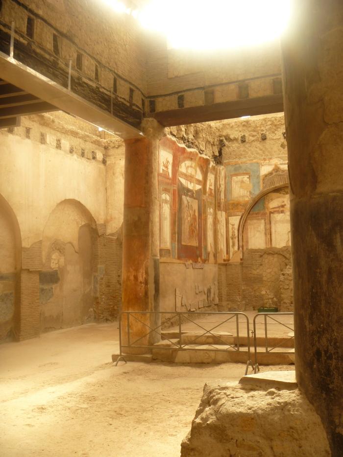 Pompeii House with Frescoes