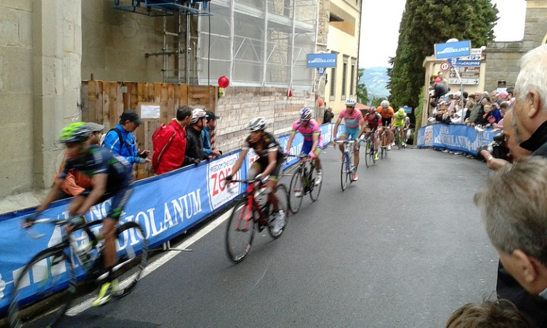 Giro d'Italia racing through town