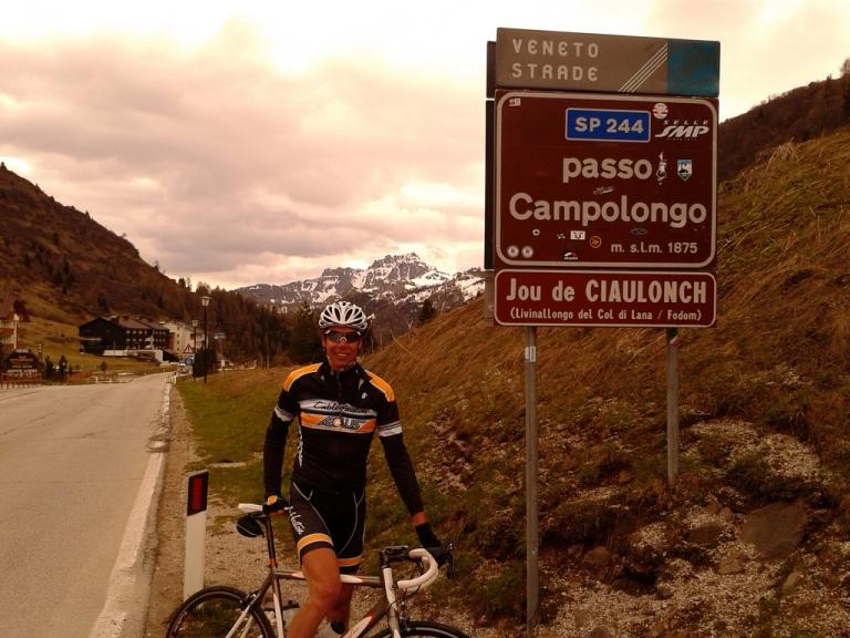 Adnan on the Passo Campolongo