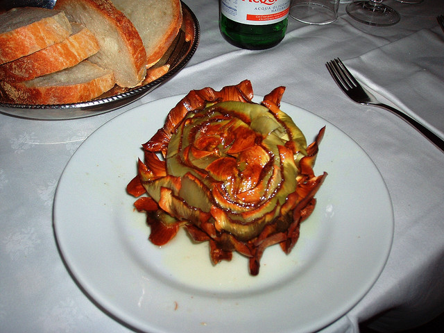 Jewish Fried Artichoke, Rome