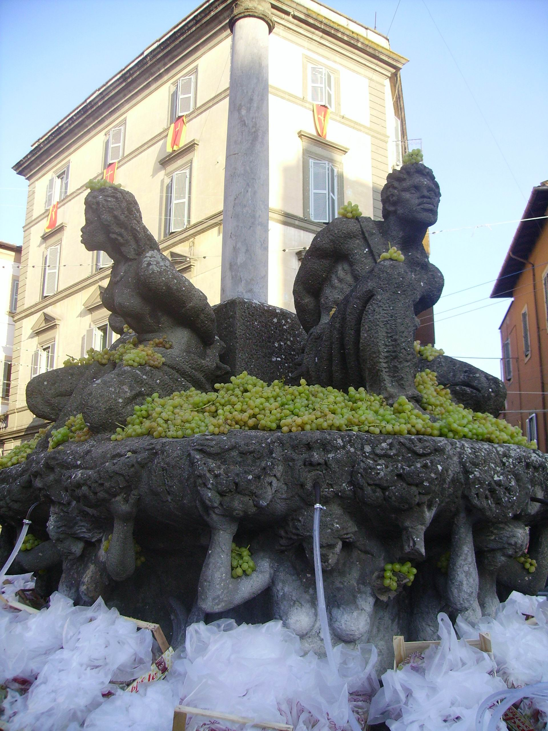 Marino's Main Fountain which Spouts Wine instead of Water