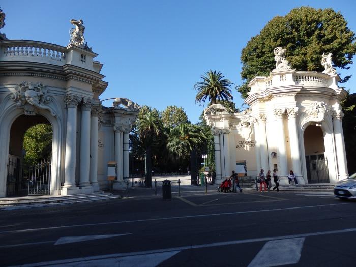 Entrance to the Villa Borghese Gardens