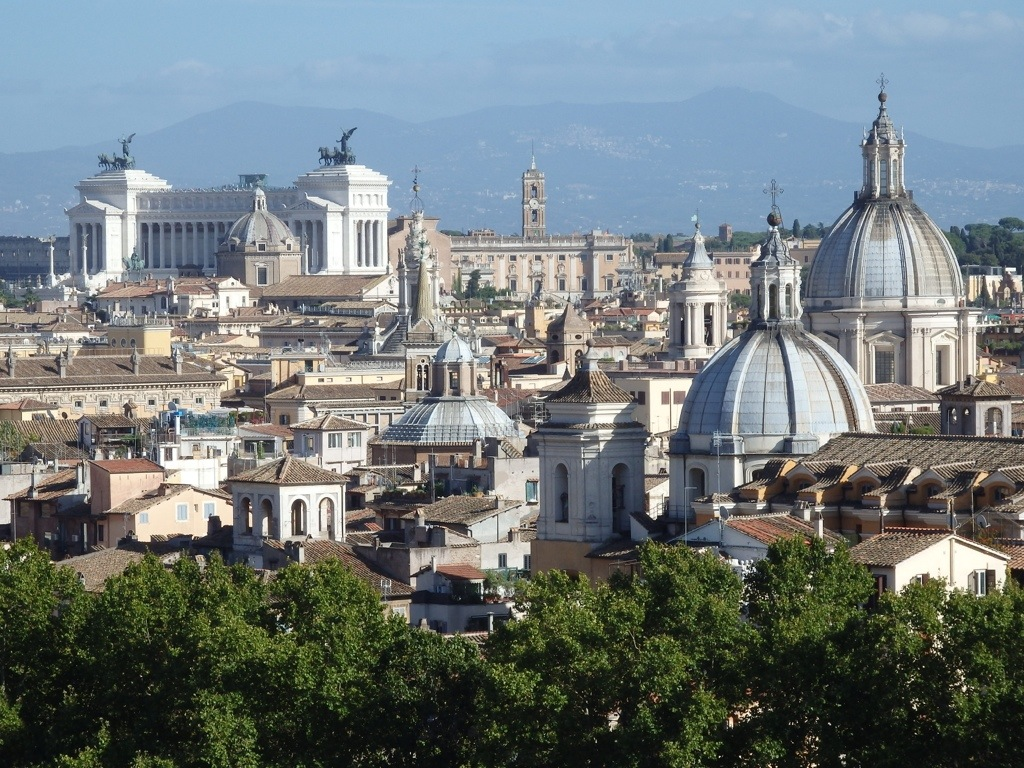 View of  Victoria Emanuel from on top of Castel Sant'Angelo