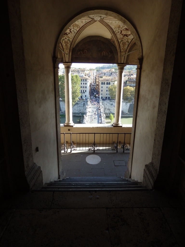 Gazing down at the Tiber River and beyond