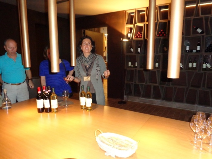 Our tour guide introduces Antinori wines