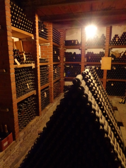 Musty wine storage-some of the fine aging wines of Verrazzano