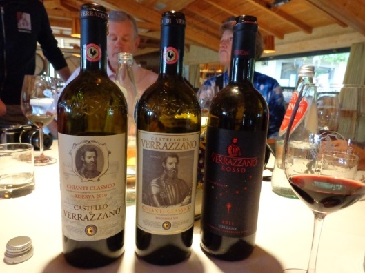 Some of the tasty Verrazzano wines!