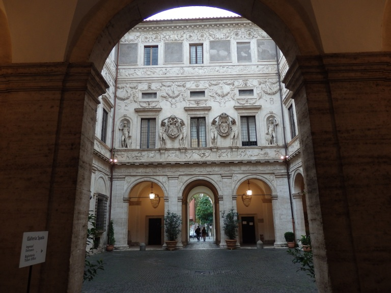 Through the arch into the main courtyard of the Palazzo