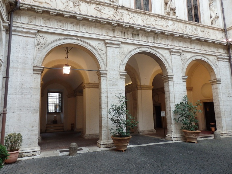Arches in the Palazzo courtyard