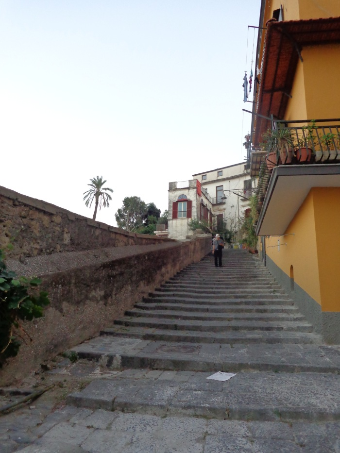 Stairs leading down from San Martino to the city
