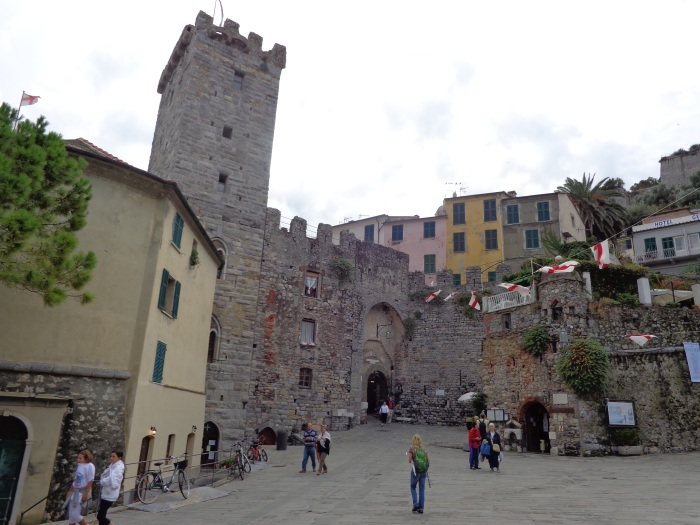 Piazza outside the entrance to the old village