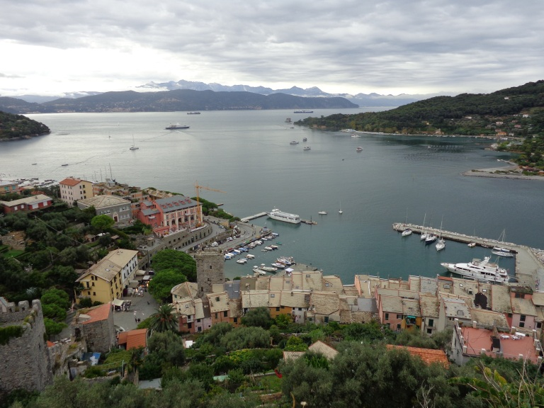 Town of Portovenere below taken from Doria Castle