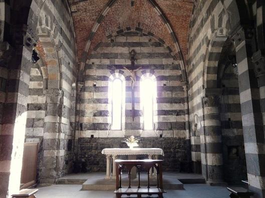 Interior of San Pietro church.