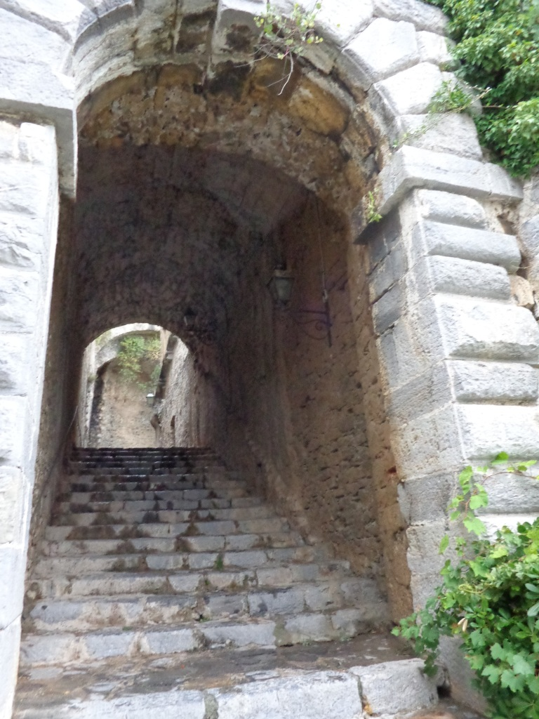Long Covered Stairs leading up to the Castle Doria