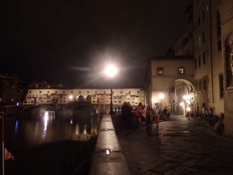 Ponte Vecchio from the bank of the Arno River