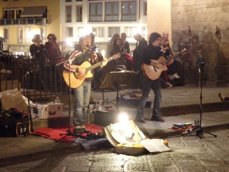Music on the Ponte Vecchio Bridge