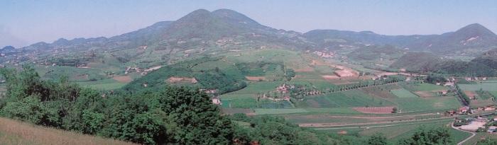 Euganean Hill country from Arqua Petrarca