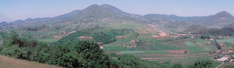 Euganean Hill country from Arqua Petrarca
