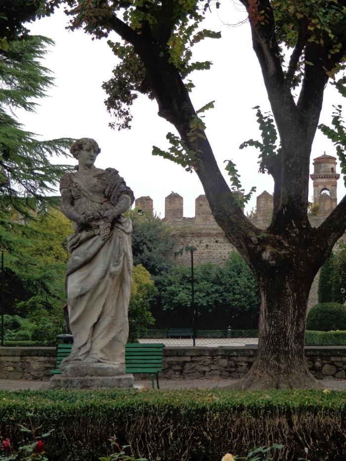 statue in the Castle of Este, Italy