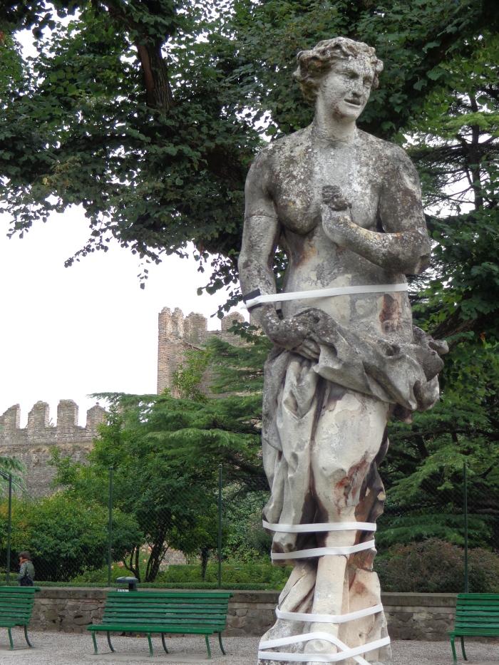 Centaur statue in the Castle of Este, Italy