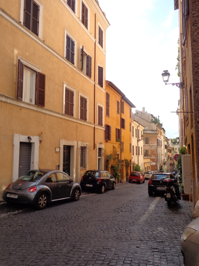 A quiet street...unusual in Rome