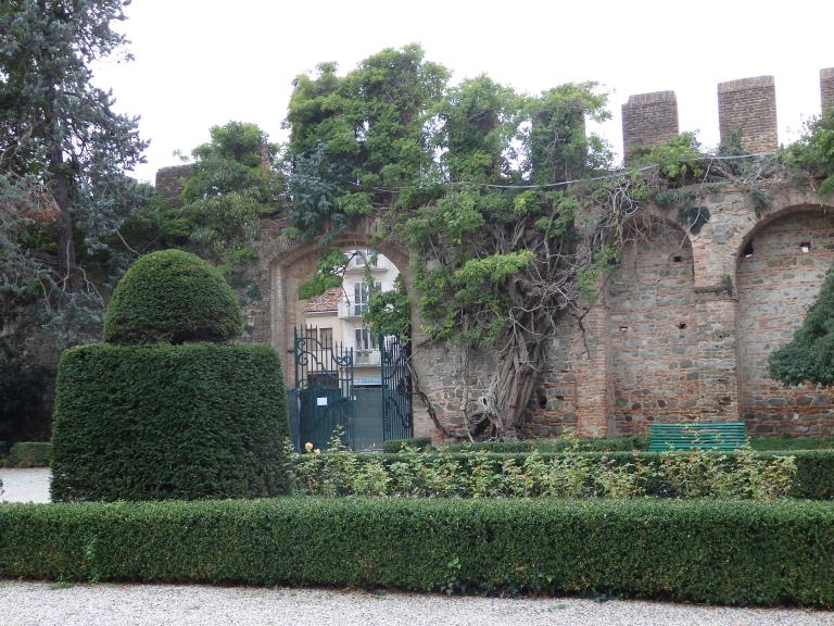 Garden entrance at the Castle of Este, Italy
