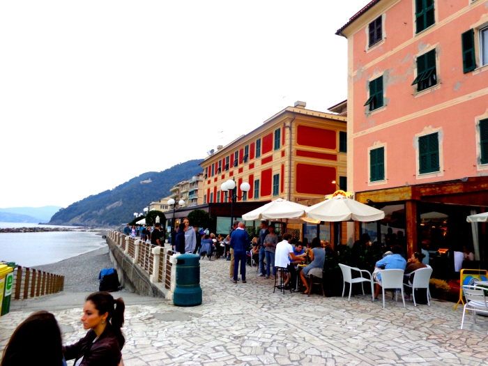 Waterfront and Promenade in Chiavari,Italy