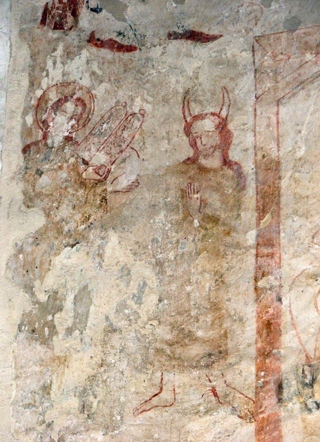 fresco of horned Moses