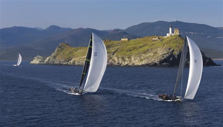 Italy and Great Britain reach Giraglia Rock in 2013 race