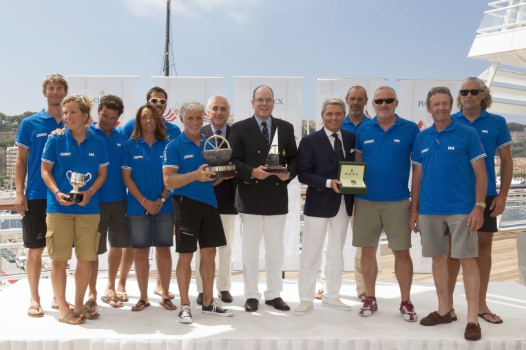 Prince Albert II of Monaco and the crew of the Tixwave
