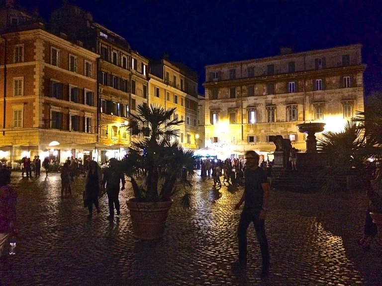Piazza Santa Maria with fountain...Trastevere's living room