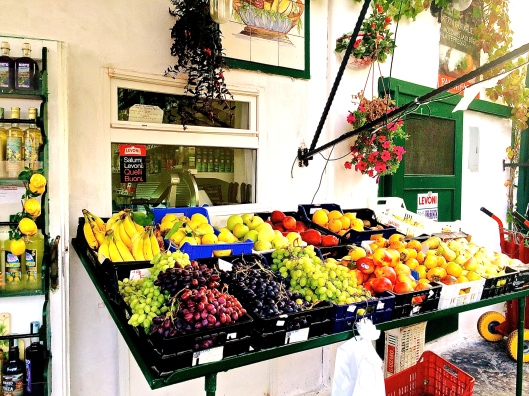 Ponza port produce stand